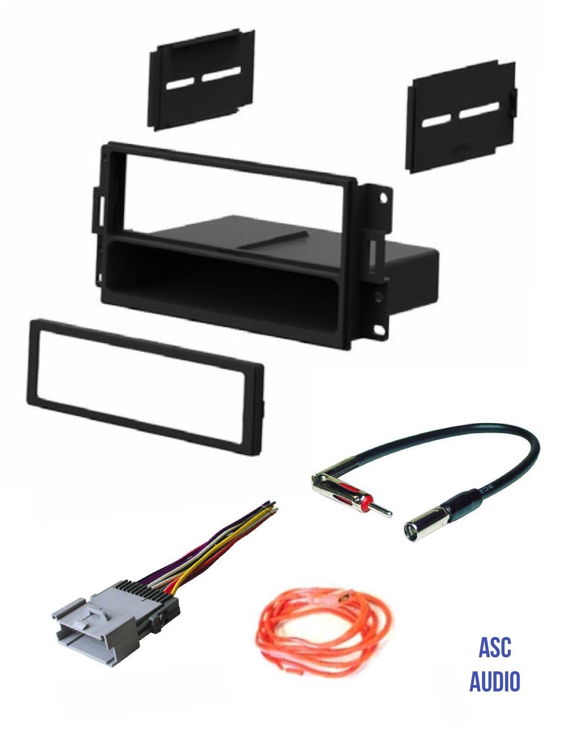 hight resolution of get quotations asc audio car stereo radio dash install kit wire harness and antenna adapter to