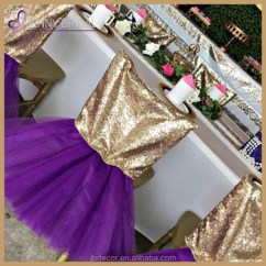 Purple Chair Sashes For Weddings Metal Outdoor Chairs With Cushions C328 Wholesale Cheap Wedding Party Gold Sequin Head Tutu Bottom Cover