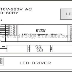 House Light Switch Wiring Diagram Beginner Venn Led Battery Kit With Inverter For Emergency Fluorescent Ni-mh Pack ...