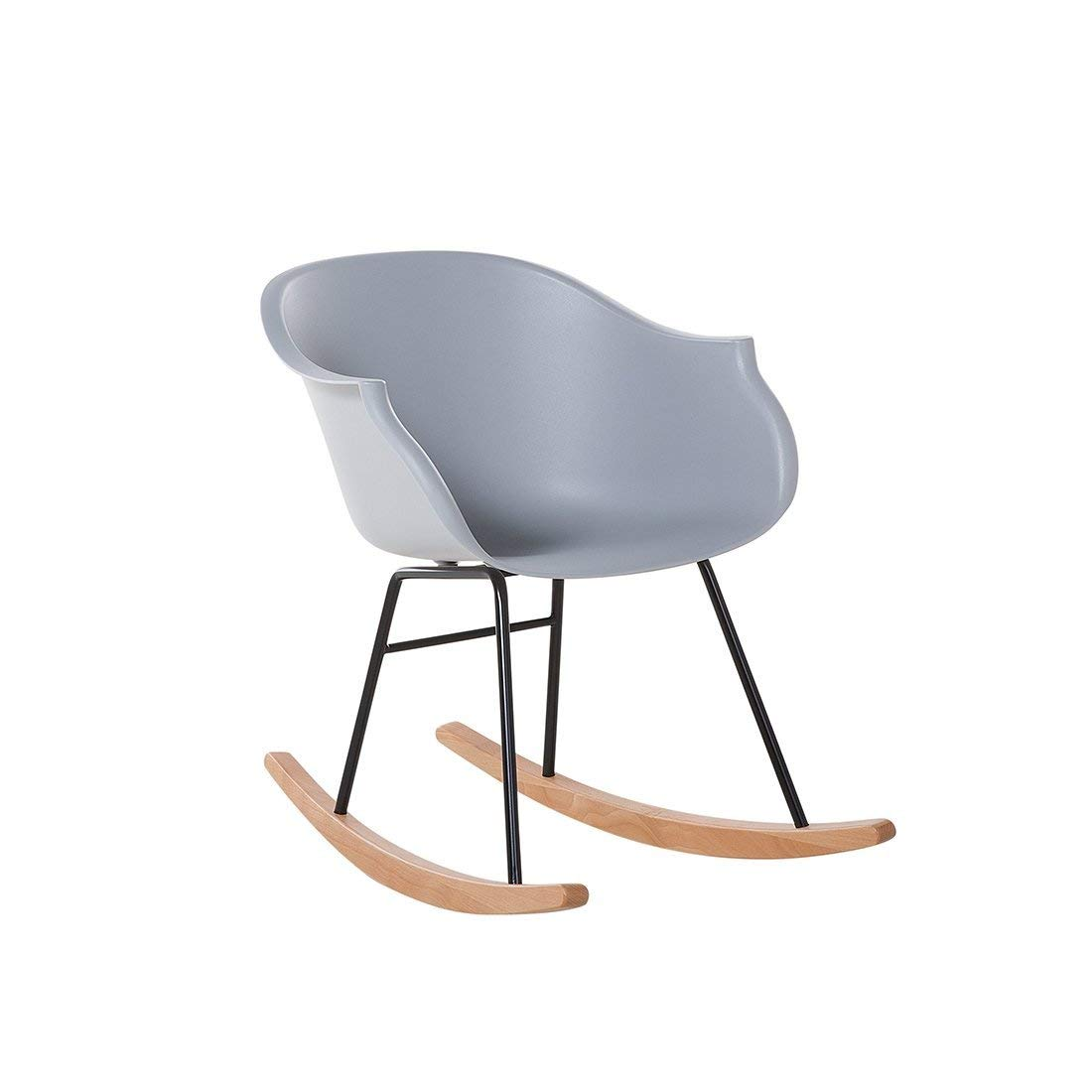 cheap modern rocking chair gothic dining chairs uk find get quotations beliani scandinavian natural wood plastic gray harmony
