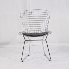 Mid Century Modern Wire Chair Pedicure Accessories Dining Room Design Black Harry Bertoia Reproduction
