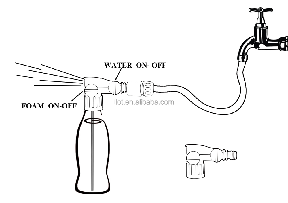 Ilot Hose End Bottle Attachment Foam Spray Gun With 500ml