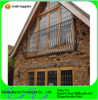 Wrought Iron Curved Balcony Railings Design - Buy Curved ...