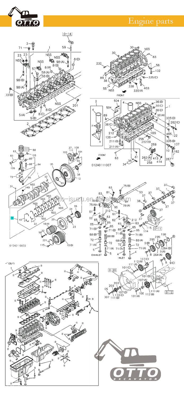 Original Genuine 4hk1 Diesel Fuel Filter 8-98074288-0