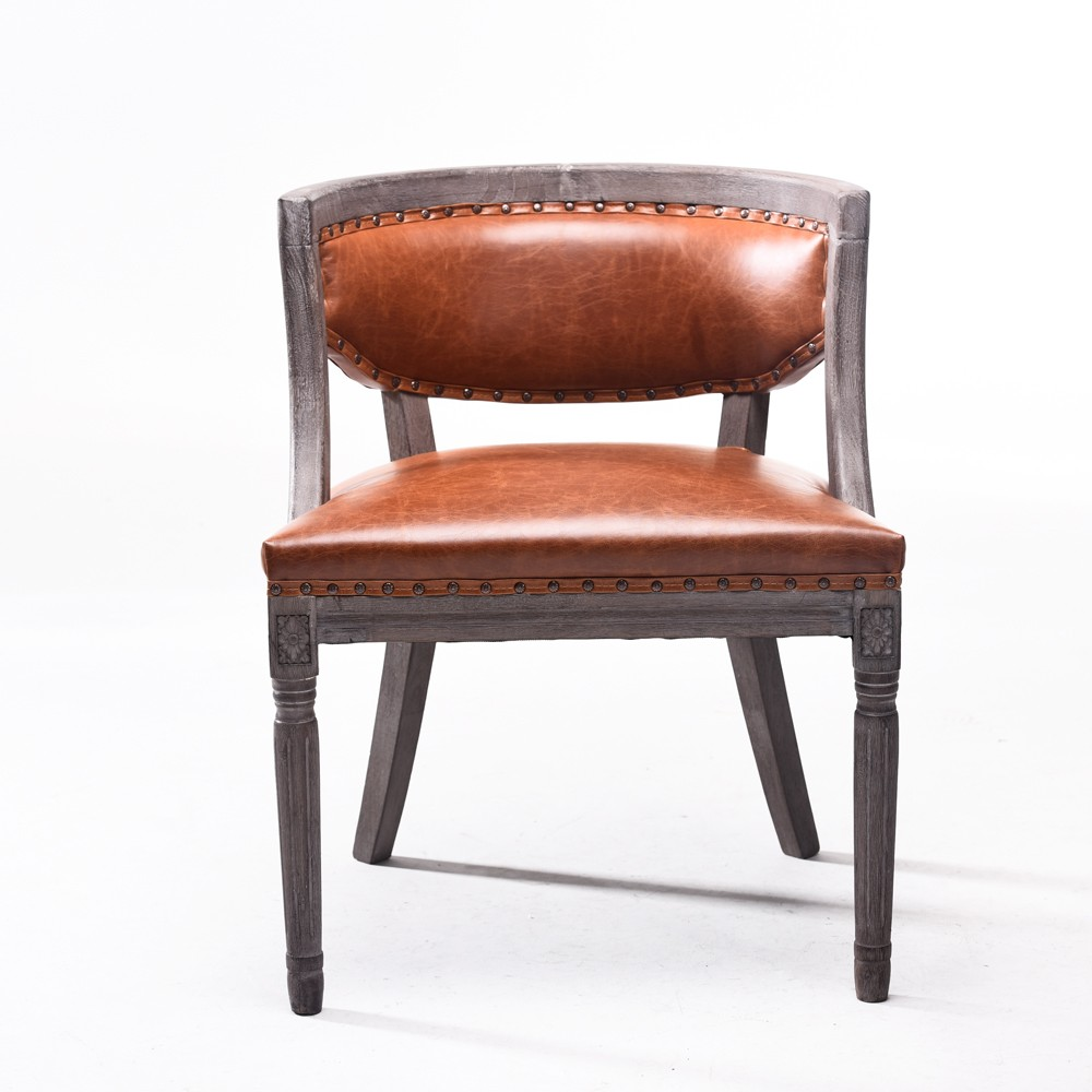 Antique Wood Chair PartsLeather Wood Design Dining Chair