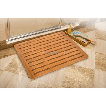 nature non slip bamboo bath mat,bathroom mat,bathroom shower mat
