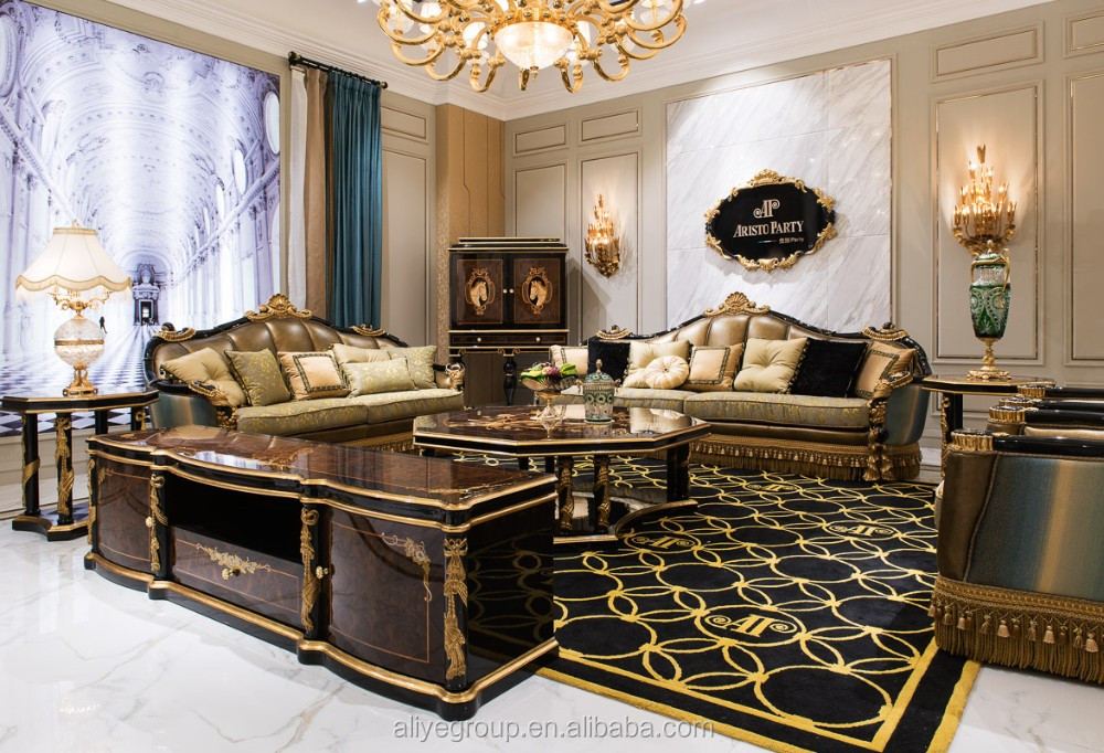 TI010luxury furniture and luxury golden living room