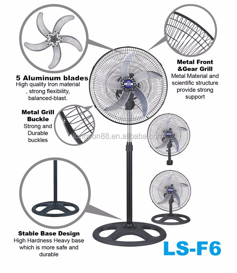 Industrial 360-degree Rotating Fan Parts Electric Stand