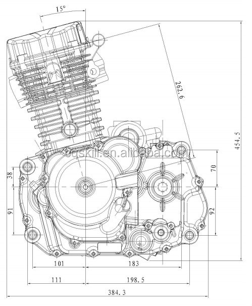Low Cost Genuine Zongshen 300cc Motorcycle Engine By