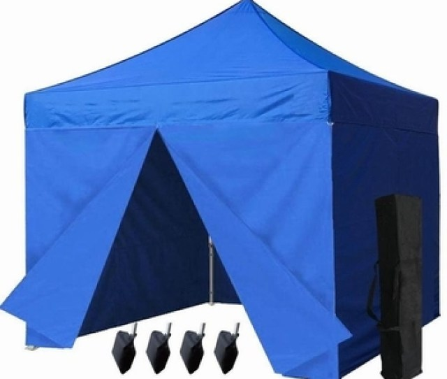 Ez Pop Up Canopy Tent Blue Outdoor Pop Up Party Commercial Tent With
