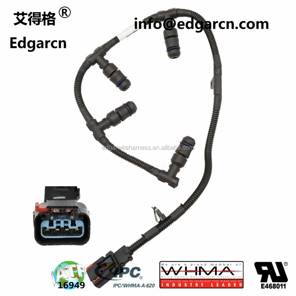 hight resolution of valve cover glow plug pigtail wire harness for ford powerstroke 7 3l
