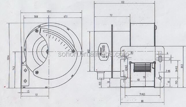 Sohon AC blower fan for boiler parts, View blower fan for
