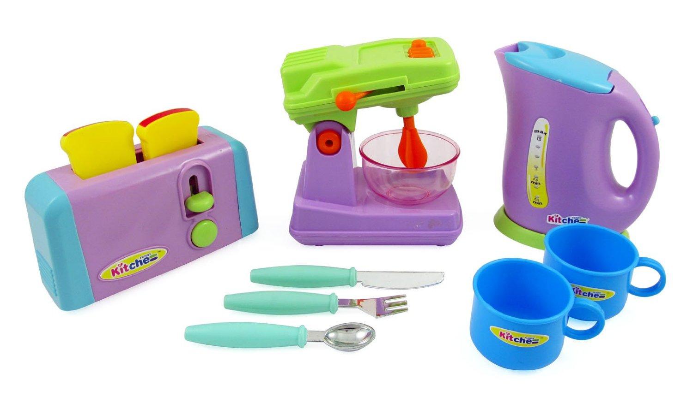 Keukenapparatuur Speelgoed Voor Kinderen Mixer Broodrooster Waterkoker Kopjes Amp Keukengerei