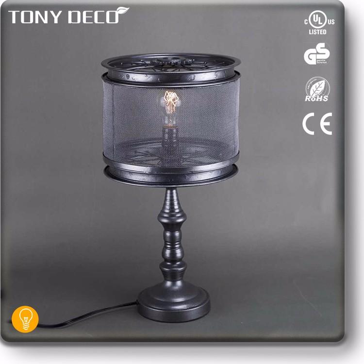 Vintage Industrial Iron Table Lamp Light Fixture Under $50