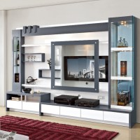 Living Room Furniture Wood Lcd Tv Wall Unit Design - Buy ...