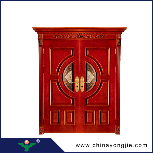 Yujie Lowes French Solid Wooden Doors Exterior