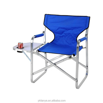 aluminum directors chair pride electric lift outdoor folding director with table elegant covers