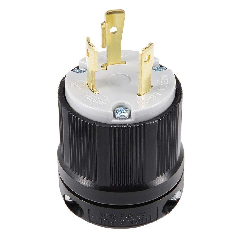 medium resolution of get quotations uxcell ul listed locking plug 30a ac 250v nema l6 30p