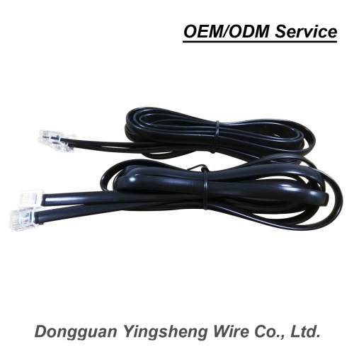 small resolution of rj11 rj12 2 4x6 8 pvc jacket black outdoor drop wire telephone cable