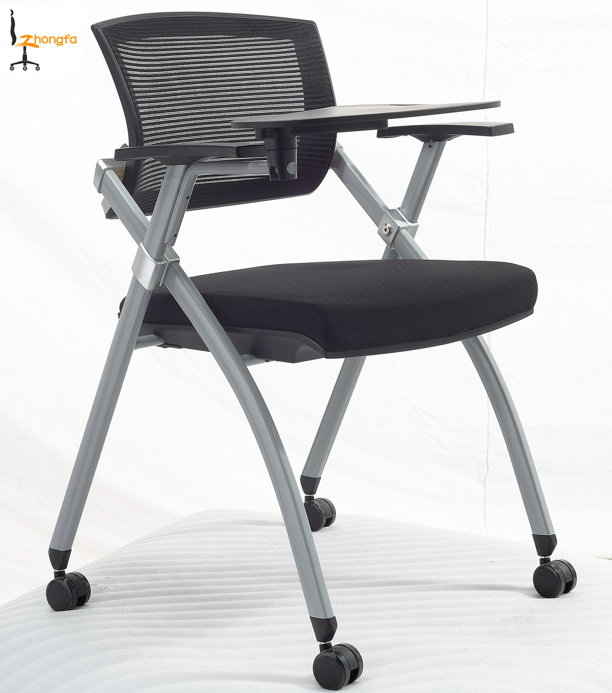 Foldable Office Chair Ciff Foldable And Stackable Mesh Office Conference Room Chair With Writing Pad Buy Conference Chair Conference Room Chair Conference Chair With