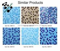 Smh14 Cobalt Blue Iridescent Mosaic Glass Mosaic Outdoor ...