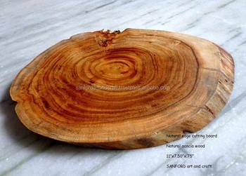 Raw Edge Acacia Wood Cutting Board chopping Board cheese