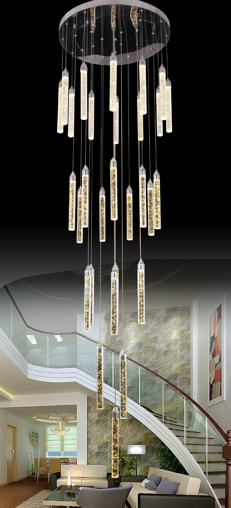 modern stair chandeliers View modern stair chandeliers TWINSTOWER Product Details from Yiwu