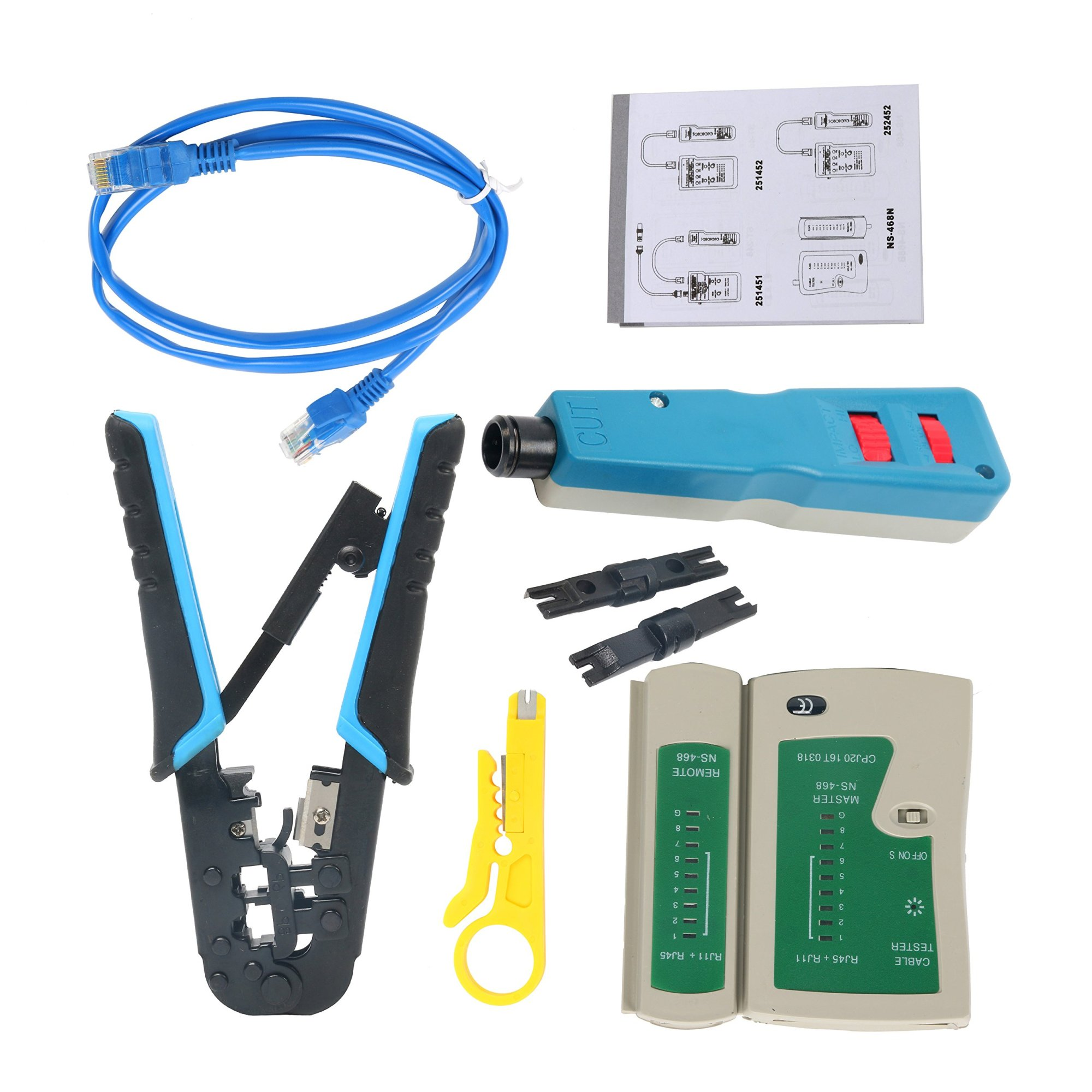 hight resolution of get quotations yaetek ethernet network tool kit network wire impact punch down tool cable connectors crimper