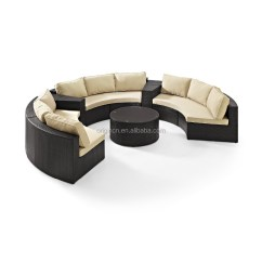 Easy To Clean Sofa Material Gallery Glendale Semi Circle Patio Wicker Chairs With Sectional Arm Tables ...