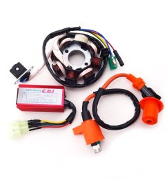 xljoy 8 poles magneto stator racing ignition coil 6 pins wires ac cdi box for chinese [ 1005 x 1005 Pixel ]
