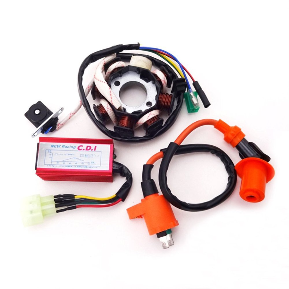 medium resolution of xljoy 8 poles magneto stator racing ignition coil 6 pins wires ac cdi box for chinese