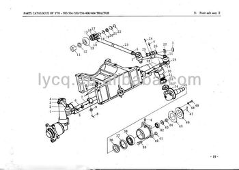 Yto Tractor Spare Parts For 250/254/280/284/300/304/350