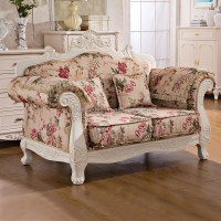 Royal French Provincial Fabric Upholstered Wooden Living ...