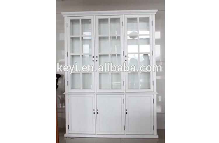 living room glass display cabinets cafe abu dhabi antique home useful and study white wooden tall cabinet with three doors nc 2818 10