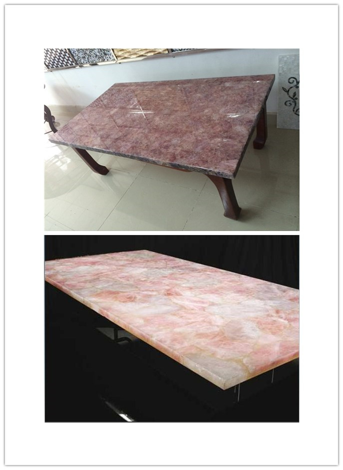 Rose Quartz Countertop Wholesale Rose Quartz Slab For Light Box,translucent