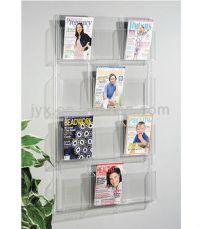 Custom Wall Hanging Acrylic Magazine Rack/display Shelf ...