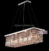 Hanging Lighting Fixture Of Ceiling,Rectangular K9 Crystal ...