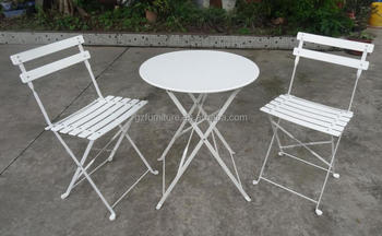 3 piece table and chair set for church bistro folding metal buy cheap