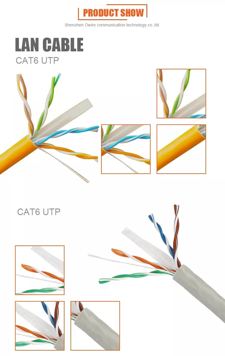 hight resolution of color code cat5e cat6 cat6a cat7 1000m utp lan cable price per meter