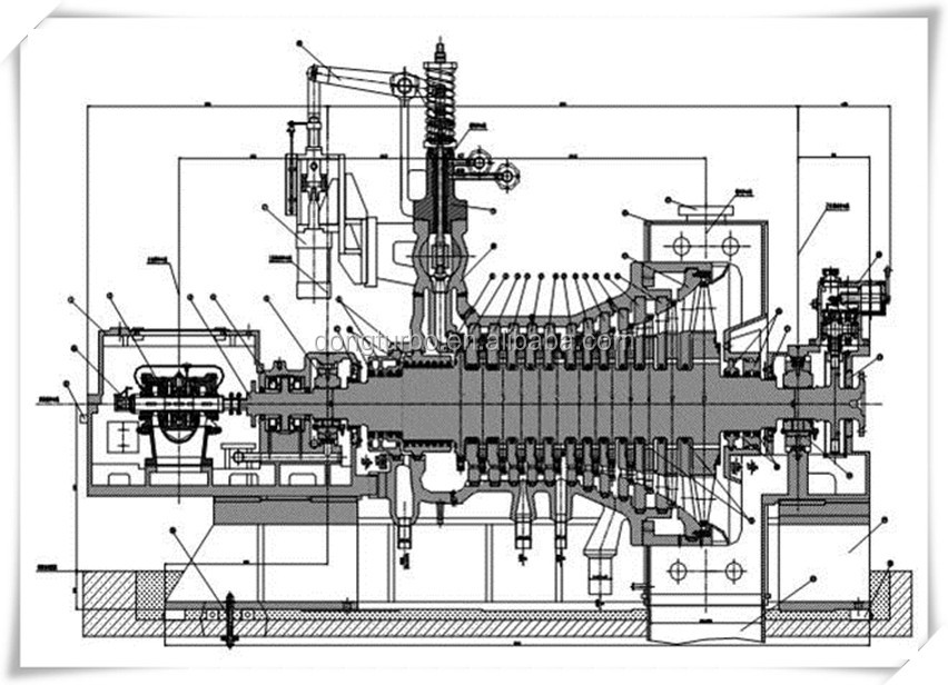 500kw-3000kw Class Generator Steam Turbine For Coal-fired