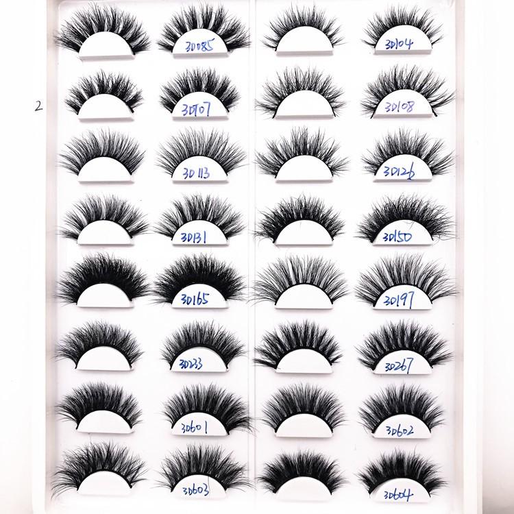 Eyelashes Mink Lashes 21mm Mink Eyelash With Packaging Box