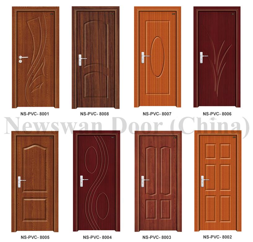 Nigeria Mdf Wooden Door Price / Bathroom Pvc Door With
