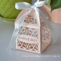 Laser Cut Filigree Favors Box For Wedding,Peach Wedding