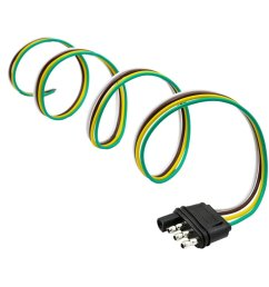 get quotations dovewill 4 way trailer wiring connection kit flat wire extension harness for car boat black [ 1024 x 1024 Pixel ]