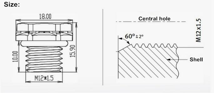 Ventilation Vent IP67 IP68 IP69K Waterproof M12*1.5 Vent