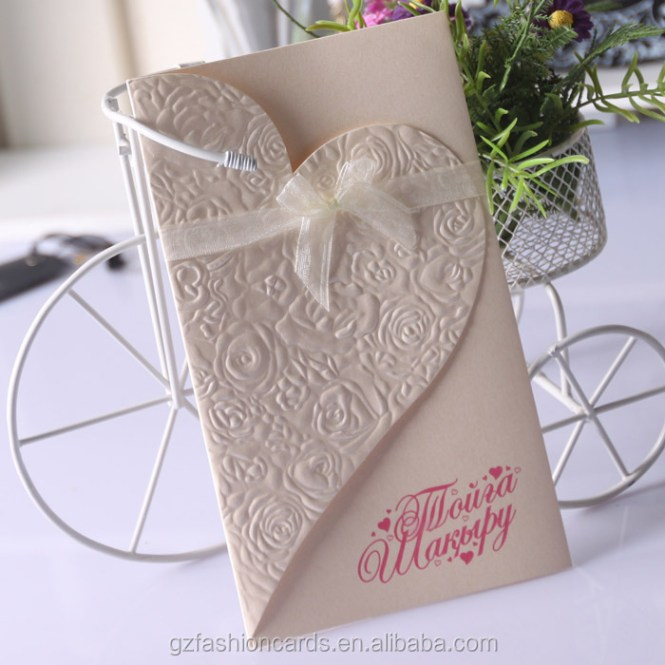 50 Pcs Lot Exquisite Chinese Double Happiness Theme Heart Shape Style Wedding Card Invitation Pocket Design