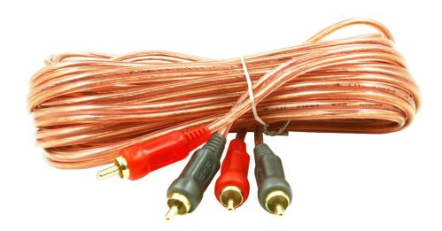 small resolution of get quotations dnf 1 pack 15 ft rca cable red interconnect cable for car audio wire plug to