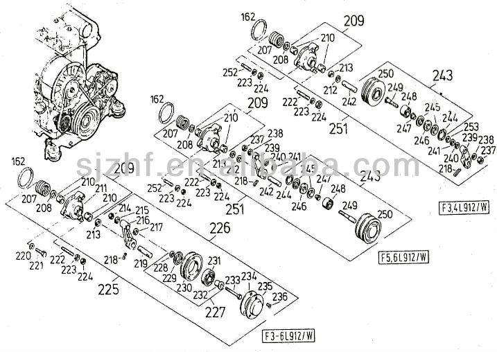 deutz diesel engine spare parts belt tensioner pulley