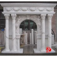 Natural Stone Column Fireplace Surround With Angel - Buy ...