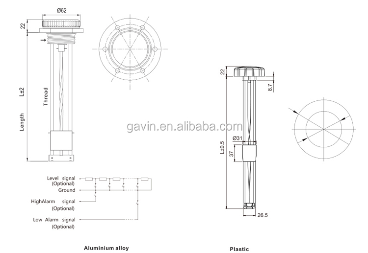 Mechanical Fuel Tank Level Gauge, View Mechanical Fuel